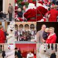 Le prince Albert II et la princesse Charlene de Monaco se sont présentés avec leurs enfants le prince Jacques et la princesse Gabriella pour la traditionnelle distribution des cadeaux de Noël aux enfants de la principauté, le 14 décembre dans la cour du palais princier. © BestImage/Dominique Jacovides