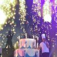 """Michaël Gregorio fête ses 10 ans de carrière avec son spectacle """"J'ai 10 ans!"""" à l'AccorHotel Arena à Paris, le 16 décembre 2016. © Coadic Guirec/Bestimage"""