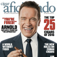 Couverture de Cigar aficionado (février 2017) avec Arnold Schwarzenegger.