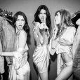 Bella, Gigi Hadid et Kendall Jenner à Paris. Novembre 2016.