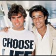 """George Michael et Andrew Ridgeley du duo Wham! en 1984."""