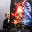 Carrie Fisher - Conférence de presse pour le film Star Wars : Le réveil de la force à Los Angeles le 4 décembre 2015.