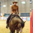 """""""Gina Schumacher participe à une épreuve de Western Riding lors du jumping international Equita CSI 2 à Lyon. Le 31 octobre 2015"""""""
