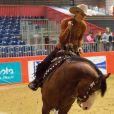 Gina Schumacher participe à une épreuve de Western Riding lors du jumping international Equita CSI 2 à Lyon. Le 31 octobre 2015