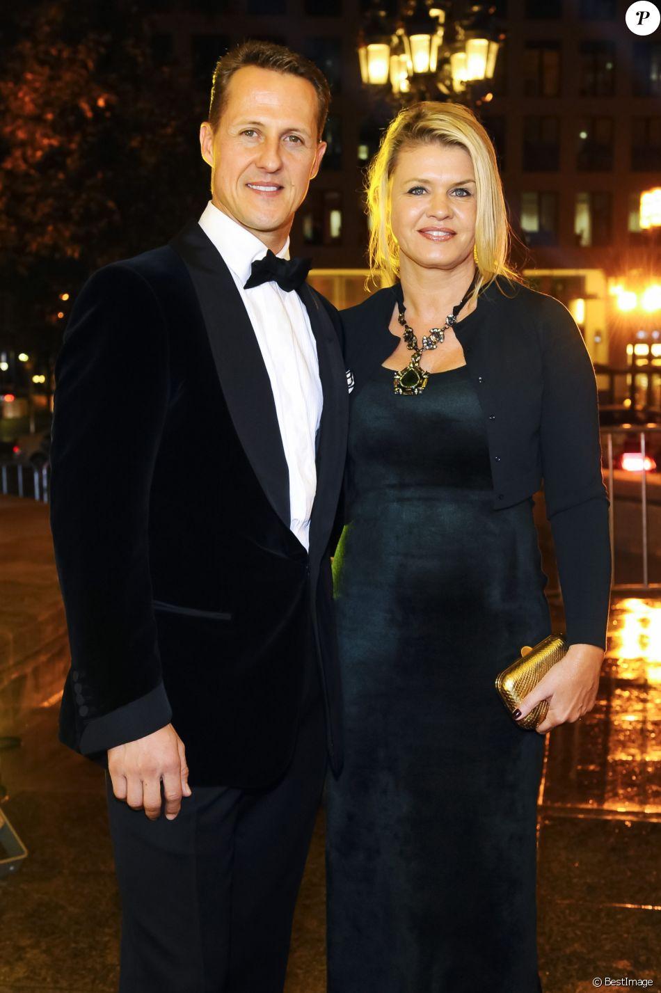 Michael Schumacher et sa femme Corinna lors du 31e Gala des Légendes du Sport à l'Opéra de Francfort le 10 novembre 2012