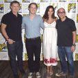 """""""Kevin Williamson, Freddie Stroma, Genesis Rodriguez et Marcos Siega lors de la série """"Time after Time"""" lors du Comic-con de San Diego le 23 juillet 2016."""""""