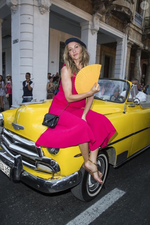 Gisele Bündchen - Defilé Croisière Chanel à La Havane à Cuba, le 3 mai 2016. © Olivier Borde/Bestimage