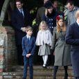 Le prince Harry lors la messe de Noël à l'église de Sandringham le 25 décembre 2016.