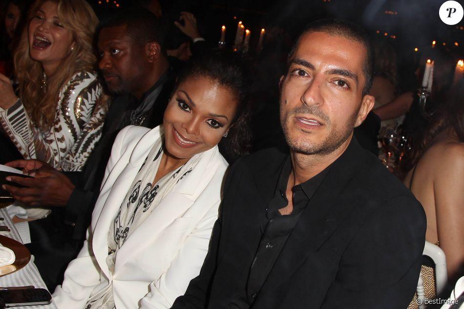 Janet Jackson et Wissam Al Mana au 65e Festival de Cannes, le 23 mai 2012