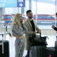 """Exclusif - Mélanie (La Villa des Coeurs Brisés 2), Anthony (La Villa des Coeurs Brisés), Jordan (les Ch'tis), Anissa (Moundir et les Apprentis Aventuriers) - Les candidats à l'émission """"Les Anges 9"""" partent de l'aéroport CDG à Roissy en France pour Miami le 2 janvier 2017."""