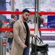 """Exclusif - Anthony (La Villa des Coeurs Brisés) - Les candidats à l'émission """"Les Anges 9"""" partent de l'aéroport CDG à Roissy en France pour Miami le 2 janvier 2017."""