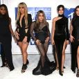 Normandi Kordei, Dinah Jane Hansen, Ally Brooke, Camila Cabello et Lauren Jauregui du groupe Fifth Harmony à la soirée des MTV Video Music Awards 2016 à Madison Square Garden à New York, le 28 août 2016.
