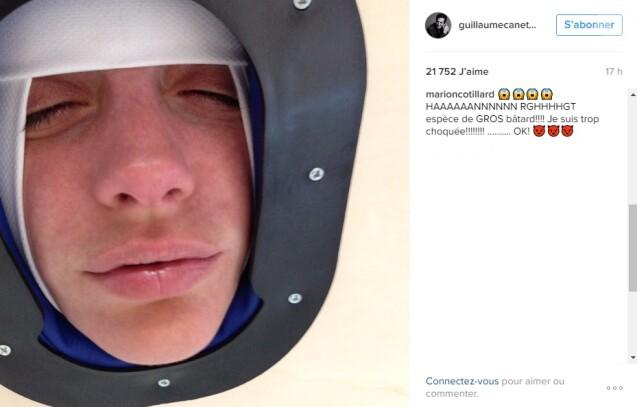 """Guillaume Canet a publié dimanche 8 janvier 2017 une nouvelle photo dossier de Marion Cotillard. Celle-ci a directement répondu en commentaire sur Instagram en le traitant de """"gros bâtard""""."""