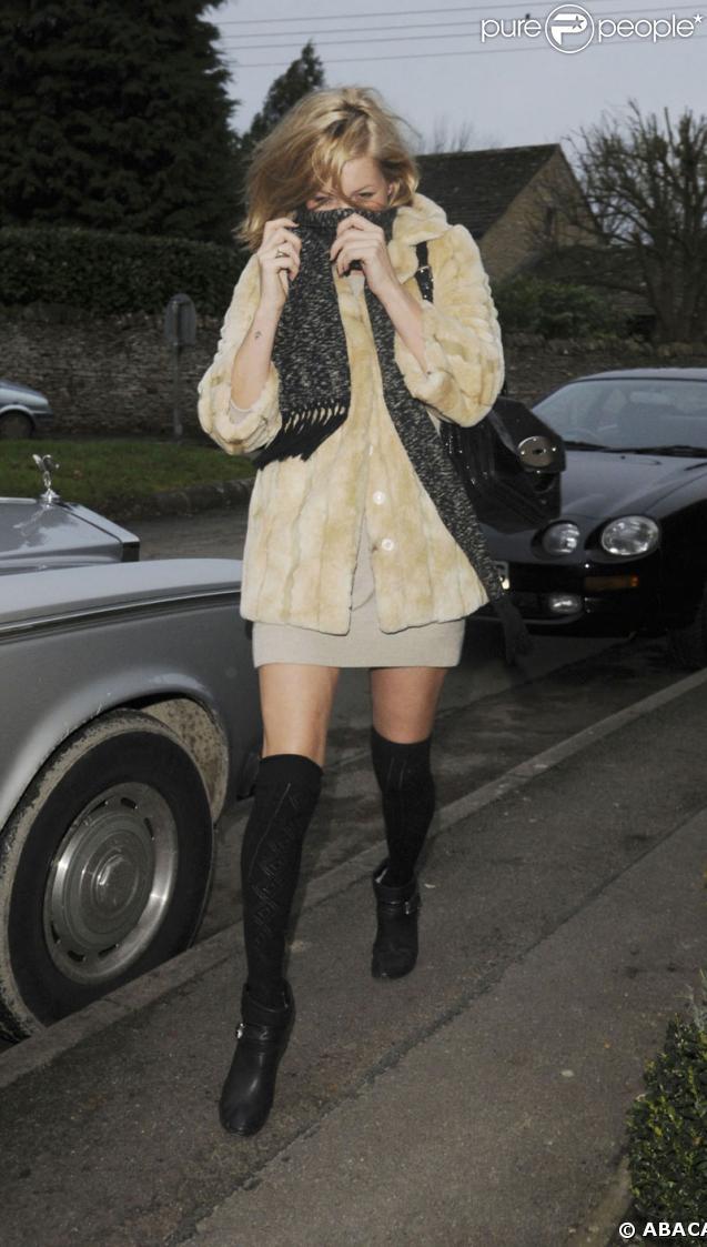 Kate Moss, habillée très court à Londres !