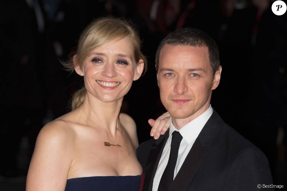 """Anne-Marie Duff et son mari James McAvoy - Première du film """"Les Suffragettes"""" à l'Odéon Leicester Square à Londres. Le 7 octobre 2015"""