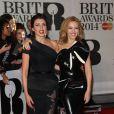 """Dannii Minogue et sa soeur Kylie Minogue - Soirée des """"Brit Awards 2014"""" en partenariat avec MasterCard à Londres, le 19 février 2014."""