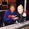 Gwen Stefani et Pharrell Williams. Décembre 2014.
