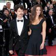 """Lucie Lucas et son mari Adrien - Montée des marches du film """"Carol"""" lors du 68e Festival International du Film de Cannes, à Cannes le 17 mai 2015."""