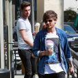 Louis Tomlinson et Liam Payne sont allés prendre un café avec une amie à Los Angeles, le 1er mars 2016