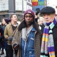 Ian McKellenlors de la manifestationanti-Trump àLondres le 21 janvier 2017.