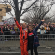 Amy Schumer et America Ferrera de la manifestation anti-Trump à Washington le 21 janvier 2017.
