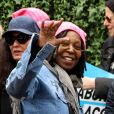 Whoopi Goldberg lors de la manifestation anti-Trump à New York le 21 janvier 2017.