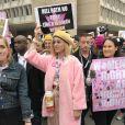 Katy Perry lors de la 'marche des femmes' contre Trump à Washington, le 21 janvier 2017