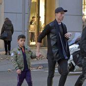 Cristiano Ronaldo en virée shopping avec Cristiano Jr., déjà très looké