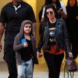Kourtney Kardashian accompagne son fils à son cours d'art à Los Angeles, le 17 janvier 2017