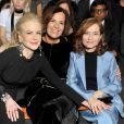 """Nicole Kidman, Roberta Armani et Isabelle Huppert - People au défilé de mode Haute-Couture printemps-été 2017 """"Giorgio Armani Privé"""" au Palais de Chaillot à Paris le 24 janvier 2017."""