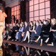 """Annabelle Wallis, Nicole Kidman, Roberta Armani, Isabelle Huppert, Ben Cura, Olga Kurylenko, Amira Casar, Cosima Auermann - People au défilé de mode Haute-Couture printemps-été 2017 """"Giorgio Armani Privé"""" au Palais de Chaillot à Paris le 24 janvier 2017."""