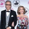 """Jane Fonda et son compagnon Richard Perry à la soirée caritative """"Carousel of Hope 2016"""" à l'hôtel Beverly Hilton à Los Angeles, le 8 octobre 2016."""