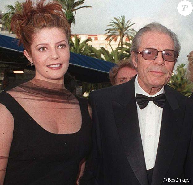 Chiara et Marcello Mastroianni au 49e Festival de Cannes en 1996 pour la présentation du film Trois vies et une seule mort