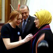Lindsay Lohan rencontre le président turc et interpelle Donald Trump !