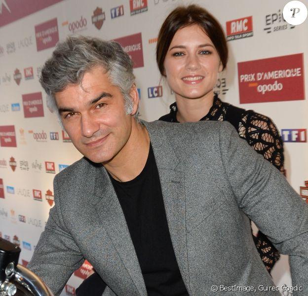 François Vincentelli et sa compagne Alice Dufour lors de la 96ème édition du Prix d'Amérique Opodo à l'hippodrome de Paris-Vincennes, le 29 janvier 2017. © Guirec Coadic/Bestimage