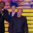 Le comportement étrange de Laurent Baffie lors des Globes de Cristal. Sur C8, le 30 janvier 2017.