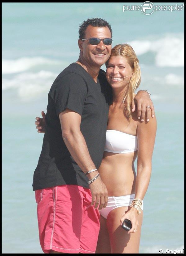 Ruud Gullit et Estelle Cruyff à Miami