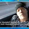 """Jean-Michel Maire en chemin pour le tournage de """"Les Anges 9"""" pour NRJ12, le 1er février 2017 dans """"TPMP"""" (C8)."""