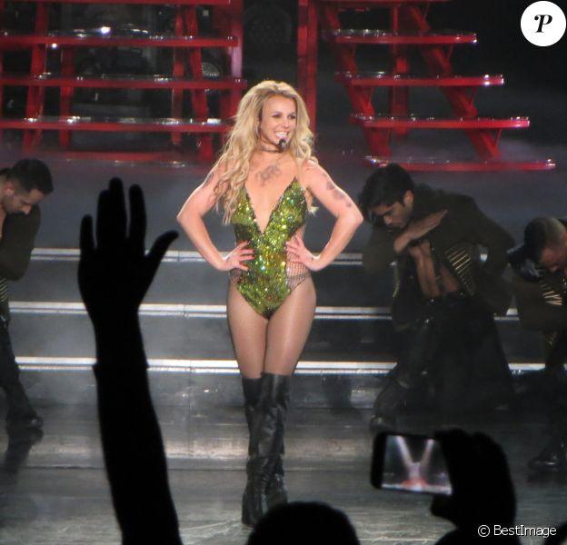 Britney Spears en concert au Planet Hollywood casino de Las Vegas le 24 février 2016.24/02/2016 - Las vegas