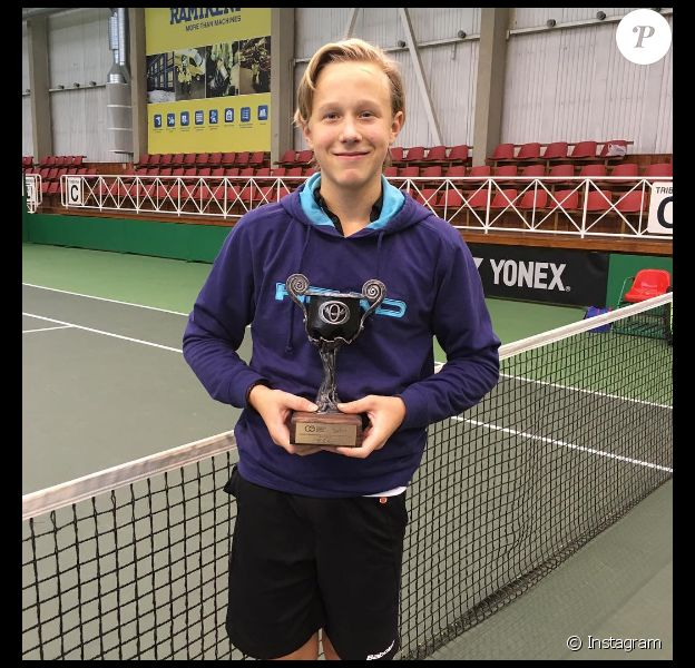 Leo Borg, 13 ans et fils du champion de tennis Björn Borg.