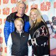 Bjorn Borg, sa femme Patricia et leur fils Leo a la premiere d'un film a Stockholm. Le 2 fevrier 2013.