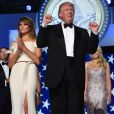 Le 45e président des Etats-Unis Donald Trump et son épouse Melania lors du bal de l'investiture à Washington le 20 janvier 2017