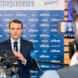 Emmanuel Macron en visite au salon des entrepreneurs au palais des Congrès à Paris le 2 février 2017. © Pierre Perusseau / Bestimage