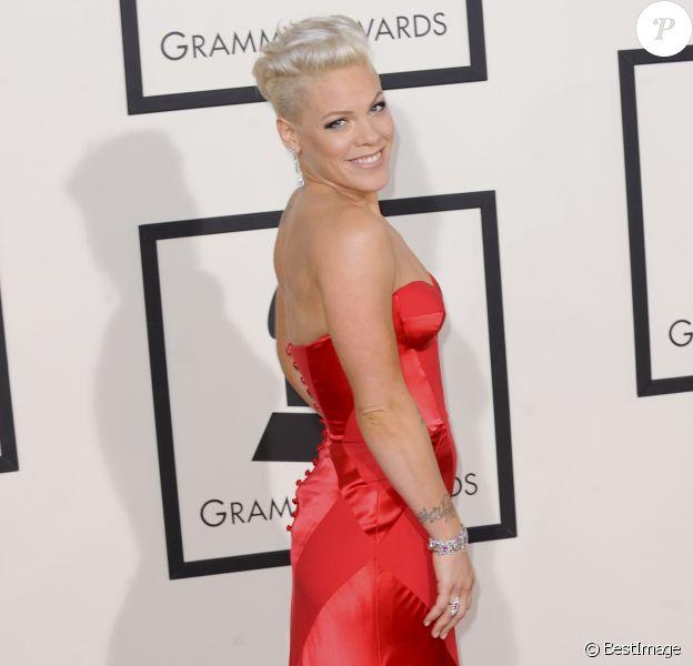 La chanteuse Pink - 56eme ceremonie des Grammy Awards à Los Angeles le 26 janvier 2014.