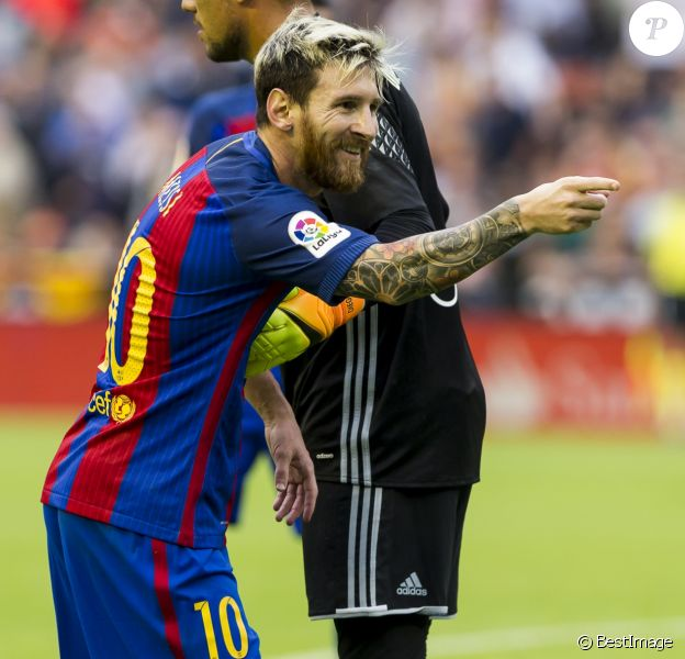 Lionel Messi - Football : Le FC Barcelone remporte la victoire contre Valence (2 a 3) à Valence le 22 octobre 2016.
