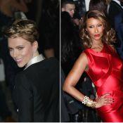 amfAR : Scarlett Johansson rayonnante en solo, Iman Bowie glamour et flamboyante
