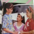 Kim Kardashian fait ses débuts dans la presse pour le magazine Barbie en 1988 - Photo publiée sur Snapchat le 8 février 2017
