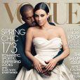 Couverture du Vogue Etats-Unis Avril 2014 avec Kim Kardashian et Kanye West