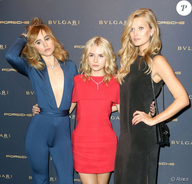 Suki Waterhouse, Lottie Moss et Toni Garrn - Soirée 'Night of the Legend' par Bvlgari  à la SoHo House. Berlin, le 9 février 2017.