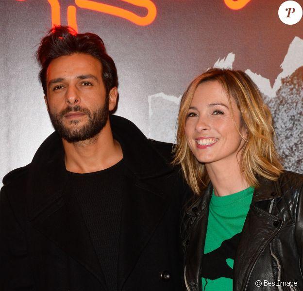 """Maxim Nucci (Yodelice) et sa compagne Isabelle Ithurburu - Avant-première du film """"Rock'n Roll"""" au Pathé Beaugrenelle à Paris le 13 février 2017. © Coadic Guirec / Bestimage"""